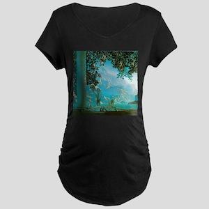 Maxfield Parrish Daybreak Maternity Dark T-Shirt