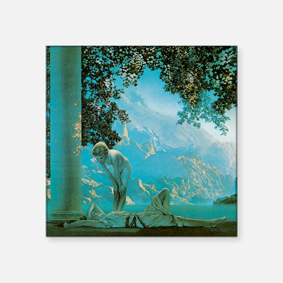 "Maxfield Parrish Daybreak Square Sticker 3"" x 3"""