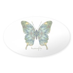 Abundance Butterfly Sticker (Oval)