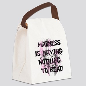 Reading Madness Canvas Lunch Bag