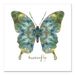 Abundance Butterfly Square Car Magnet 3