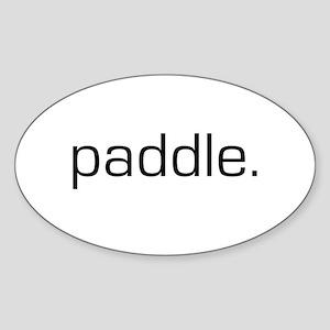 Paddle Oval Sticker