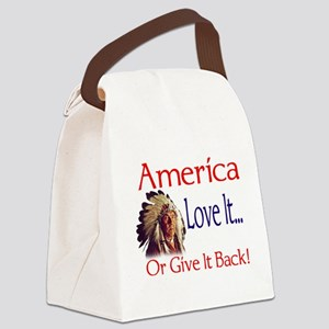 americabig Canvas Lunch Bag