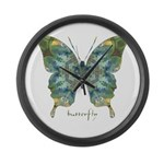 Abundance Butterfly Large Wall Clock