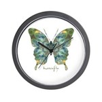 Abundance Butterfly Wall Clock