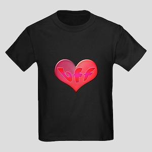 BFF Heart Kids Dark T-Shirt
