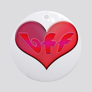 BFF Heart Ornament (Round)