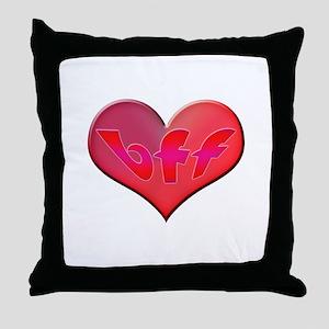 BFF Heart Throw Pillow