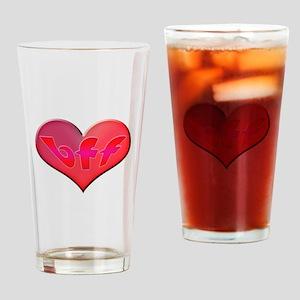BFF Heart Drinking Glass