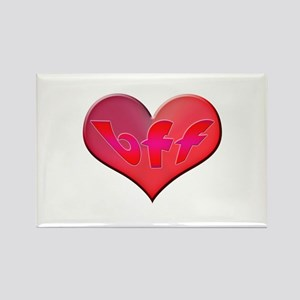 BFF Heart Rectangle Magnet