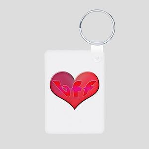 BFF Heart Aluminum Photo Keychain