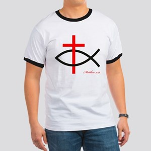 cross and fish Ringer T