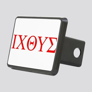 cross and fish Rectangular Hitch Cover