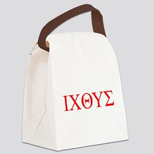 cross and fish Canvas Lunch Bag