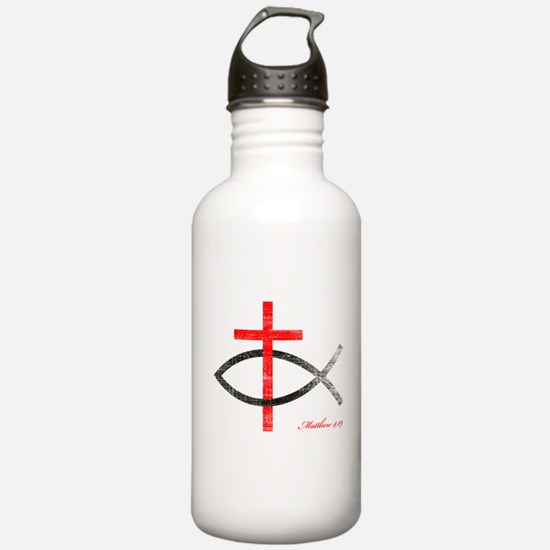 cross and fish Water Bottle
