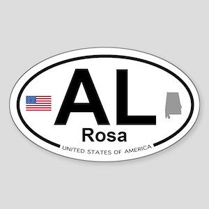 Rosa Sticker (Oval)