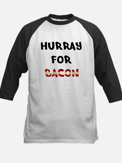 Hurray for Bacon Kids Baseball Jersey