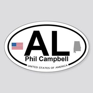 Phil Campbell Sticker (Oval)
