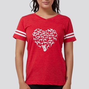 Greyhound Heart T-shirt Womens Football Shirt