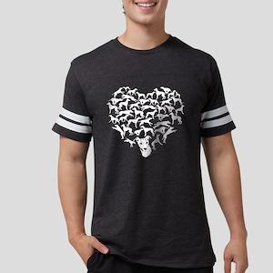 Greyhound Heart T-shirt Mens Football Shirt
