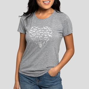 Greyhound Heart T-shirt Womens Tri-blend T-Shirt