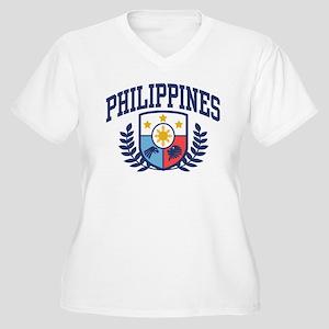Philippines Women's Plus Size V-Neck T-Shirt