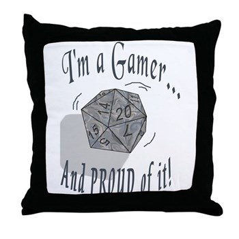 Proud Gamer Throw Pillow