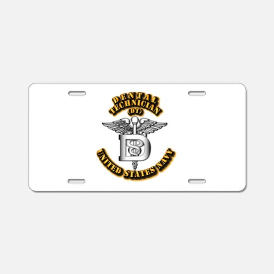 Navy - Rate - DT Aluminum License Plate