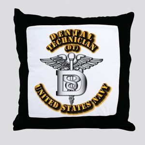 Navy - Rate - DT Throw Pillow