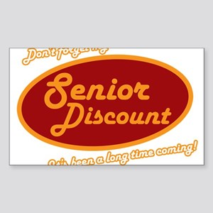 Dont forget my senior discount Sticker (Rectangle)