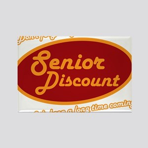Dont forget my senior discount Rectangle Magnet