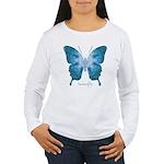 Zephyr Butterfly Women's Long Sleeve T-Shirt