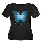 Zephyr Butterfly Women's Plus Size Scoop Neck Dark