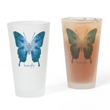 Zephyr Butterfly Drinking Glass