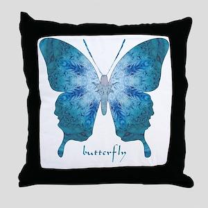 Zephyr Butterfly Throw Pillow