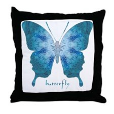 Zephyr Butterfly Throw Pillow