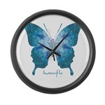 Zephyr Butterfly Large Wall Clock