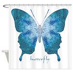 Zephyr Butterfly Shower Curtain