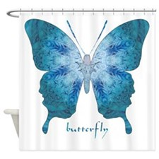Zephyr Butterfly Shower Curtain