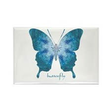 Zephyr Butterfly Rectangle Magnet