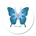 Zephyr Butterfly Round Car Magnet