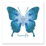 Zephyr Butterfly Square Car Magnet 3
