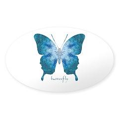 Zephyr Butterfly Sticker (Oval)