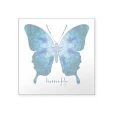 Zephyr Butterfly Square Sticker 3