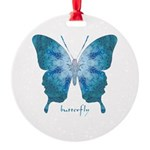 Zephyr Butterfly Round Ornament