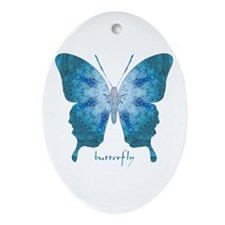 Zephyr Butterfly Ornament (Oval)