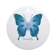 Zephyr Butterfly Ornament (Round)