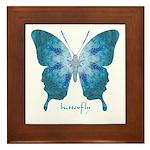Zephyr Butterfly Framed Tile