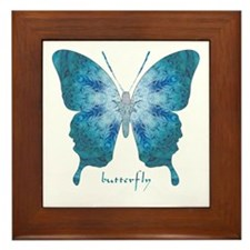 Zephyr Butterfly Framed Tile