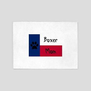 Boxer Mom 5'x7'Area Rug